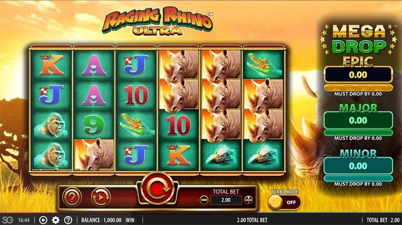 Raging Rhino Slot Images - CasinoTop