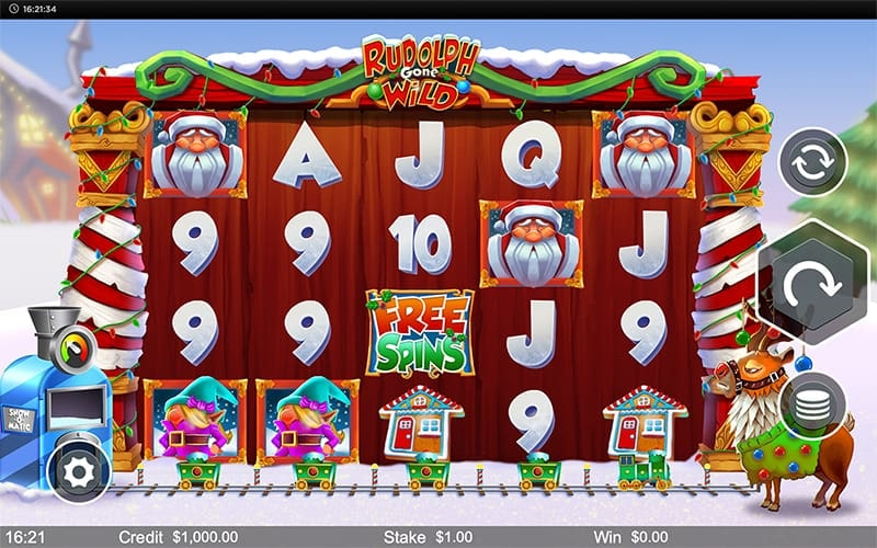 Rudolph Gone Wild Slot Images - CasinoTop