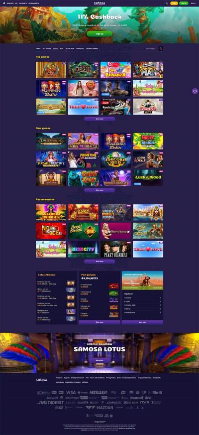 Samosa Casino Screenshot
