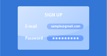 Step One Sign up or Login