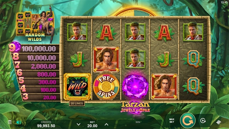 Tarzan and the Jewels of Opar Slot Images - CasinoTop