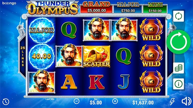 Thunder of Olympus Slot Images - CasinoTop