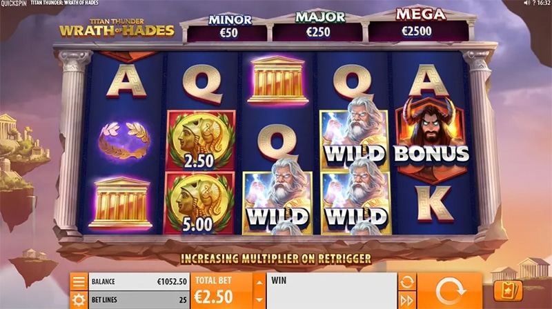 Titan Thunder Wrath of Hades Slot Images - CasinoTop