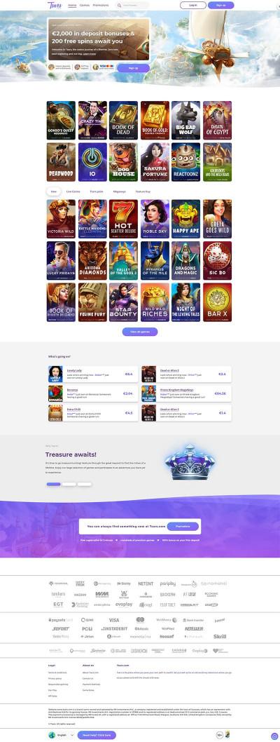 Tsars Casino Screenshot