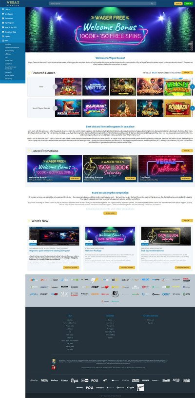 Vegaz Casino Screenshot