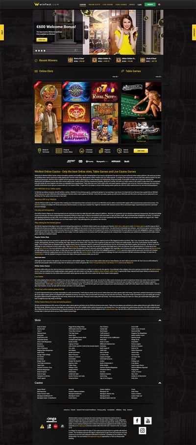 Winfest Casino Screenshot