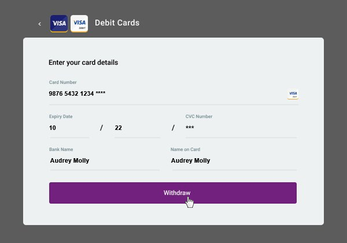 Withdrawal Debit cards 3