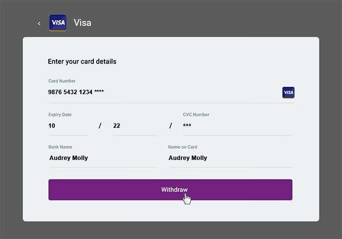 Withdrawal Visa 3