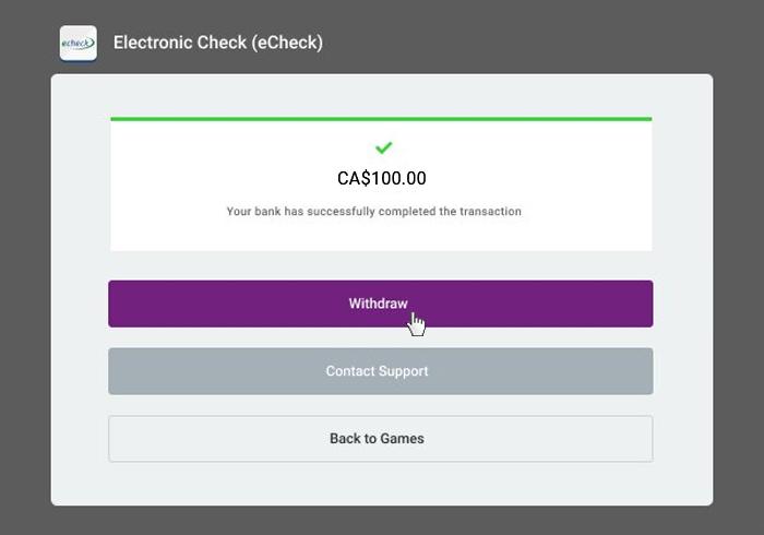 eCheck withdrawal 4
