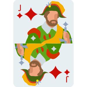 J of diamond Card