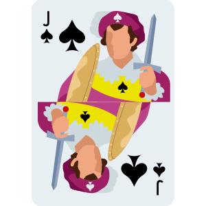 J of Spade Card