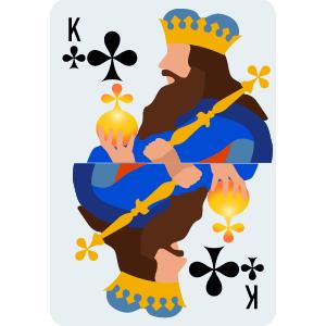 K of Club Card
